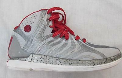 00d53c854f32 ADIDAS Derrick D Rose mens 7.5 silver white red basketball shoes metallic  FAB