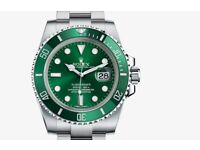 Rolex watch wanted, any Submariner, GMT master, etc etc