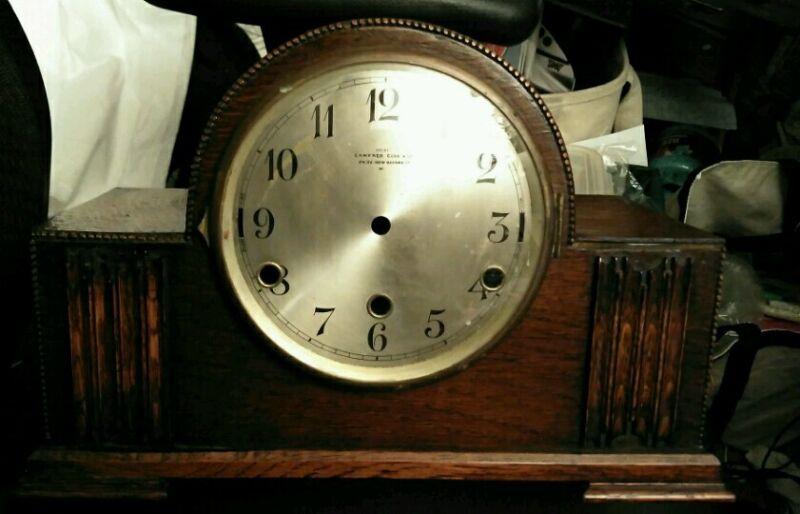 Camerer Cuss & Co London UK Oak Wood Mantle Clock Case with Original Face