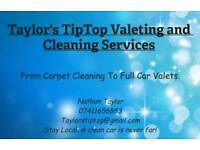 Taylor's TipTop Valeting and Cleaning Services