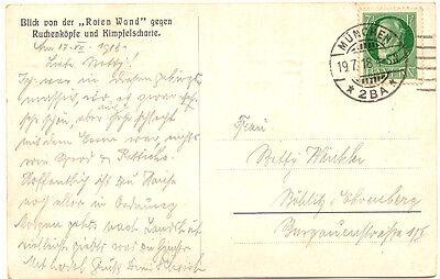 """ÖSTERREICH Blick von der """"Roten Wand"""" gegen RUCHENKÖPFE und KIMPFELSCHARTE, 1918"""