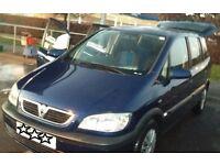 2005 Vauxhall Zafira 7 Seater 1.6 Petrol.