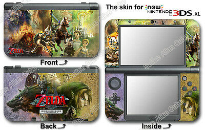 The Legend of Zelda Twilight Princess Skin Sticker Decal Cover for NEW 3DS