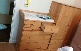 Childrens chest of drawers and wardrobe