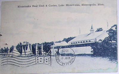 1909 MINNETONKA Boat Club,SAILBOATS Minnesota  Postcard