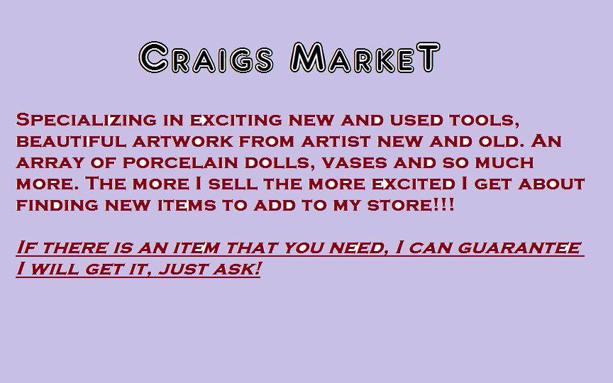 Craigs Market