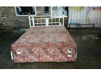 Double Divan Bed Base with 4 Drawers and Headboard