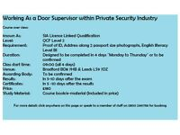 SIA Licence Linked Security Guarding/Door supervision/CCTV/First Aid at work Courses Qualifications