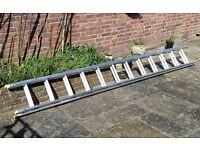 WERNER Aluminium Double Box Section Extension Ladder