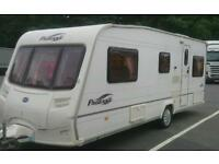2005 bailey vendee 4 berth fixed bed vgc