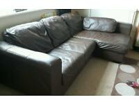 Leather corner sofa needed gone