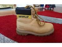 Cat steel toe cap boots 6 uk men shoes leather