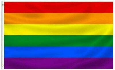 3x5FT Rainbow Pride Flag Banner LGBTQ Gay Lesbian Love Equal Décor