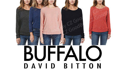 (Buffalo David Bitton Womens Raglan Long Sleeve Crew Neck Ultra Soft Cozy Top NWT)