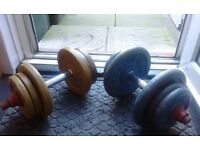 Dumbells with 40kg Cast Iron Weights