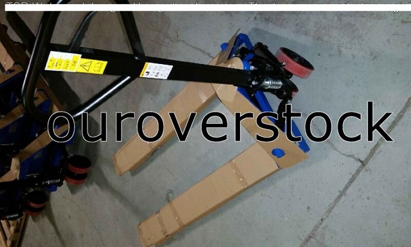 """PALLET JACK 27"""" X 48"""" 5500 capacity with Pallet Jack Stop"""