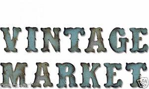 Sizzix Bigz XL die Tim Holtz Vintage Market Alphabet For Big Shot etc 658772