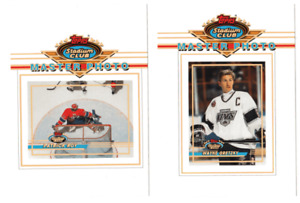 CARTE DE HOCKEY SET MASTER PHOTO STADIUM CLUB SER 1 COMPLET