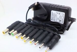 12v 2a 2000ma power supply adapter with multi connector universal plug