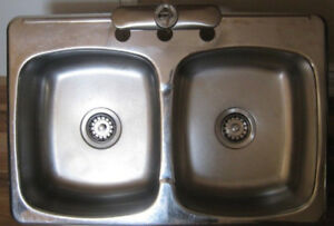 KITCHEN SINK Stainless Steel | Double Bowl | Top Mount