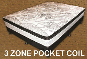 3 ZONE POCKET COIL MATTRESS Kitchener / Waterloo Kitchener Area image 1