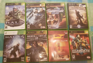 8 Xbox Orignal and 360 Video Games