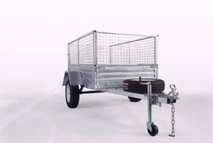 Welded 7x5 Gal Trailer with REGO SPARE CAGE TILT