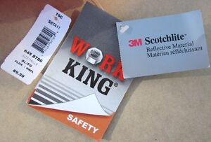** NEW ** Work King Safety Overall - 3M Scotchlite Reflective Cambridge Kitchener Area image 2