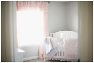 White Catalina Crib with the toddler bed conversion kit