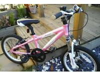 Little girls carrera make quality bike hardly used suit 4ish to 6.7ish years old one gear