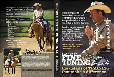 ANDREA FAPPANI The Art of Fine Tuning SERIES 4 Horse TRAINING Reining DVD Set for sale  Springfield