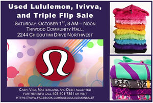 Used Lululemon, Ivivva Triple Flip sale Oct.1st, 8-12noon.