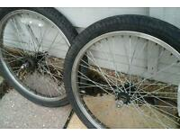 Old school chrome rims and tyres 16toothrear sprocket vgc 20 inch