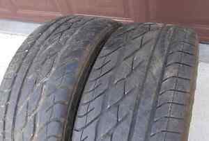 2 - 235/55/17 Goodyear Eagle GT - Z rated. lots of tread