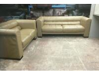 REDUCED !!!! Fab looking 2 and 3 seater in genuine leather