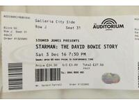 The David Bowie Story - 8 Tickets -Liverpool Echo Arena - Saturday 4th November 4/11/2016