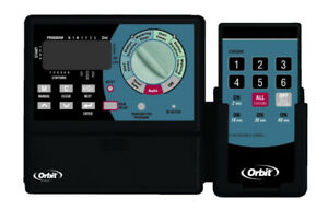 Orbit INDOOR Sprinkler Timer 57096 Super-6 Controller w/Remote