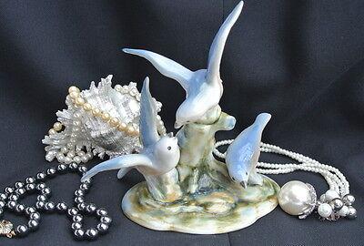 Vögel  Porzellan Figuren 3 Möwen.