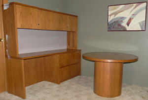 EXECUTIVE OFFICE CREDENZA with TABLE