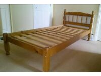 Pine 3ft single bed frame in very good condition