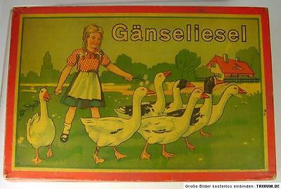 """Antikes Würfel Spiel """" Gänseliesel """" in OVP vor 1945"""