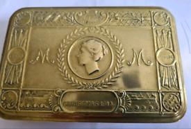 Antique WW1 Christmas 1914 Brass Box.