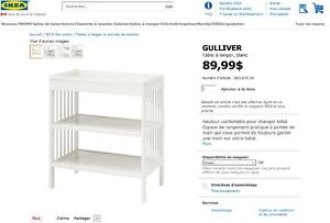 Table à langer IKEA blanche Changing Table