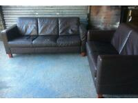 Reduced !!!!! Leather 2 and 3 seater sofas