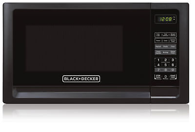 Black & Decker Countertop Microwave Oven w/ 0.9 Cubic Feet & LED Display - Black
