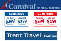TRENT TRAVEL - Great Last Minute Cruise Deals