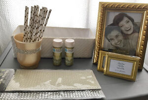 Gold / Ivory Wedding and DIY Decor Lot