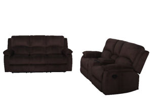 Brand new recliner fabric sofa and loveseat on sale for $1398!!!