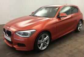 2014 ORANGE BMW 125D 2.0 M SPORT DIESEL AUTO 3DR HATCH CAR FINANCE FR £54 PW