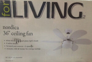 """NEW 36"""" ceiling fan with light"""